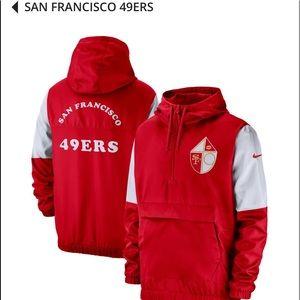San Francisco 49ers Nike Historic Anorak Jacket